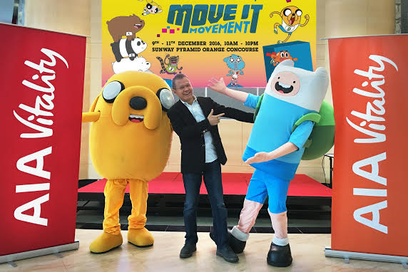 Cartoon Network Move it Movement at Sunway Pyramid with AIA Vitality