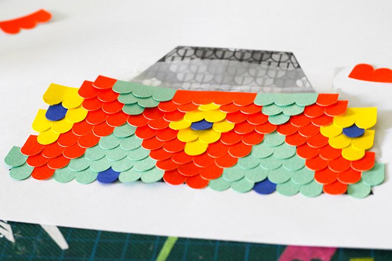 tuiles en papier découpé par camille epplin