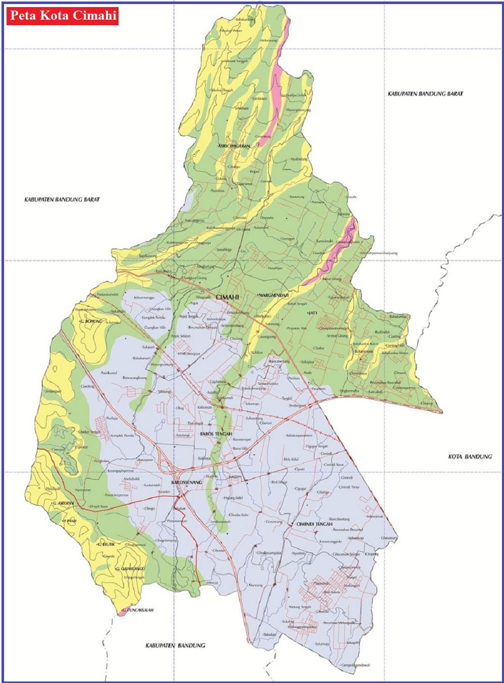 Peta Kota Cimahi