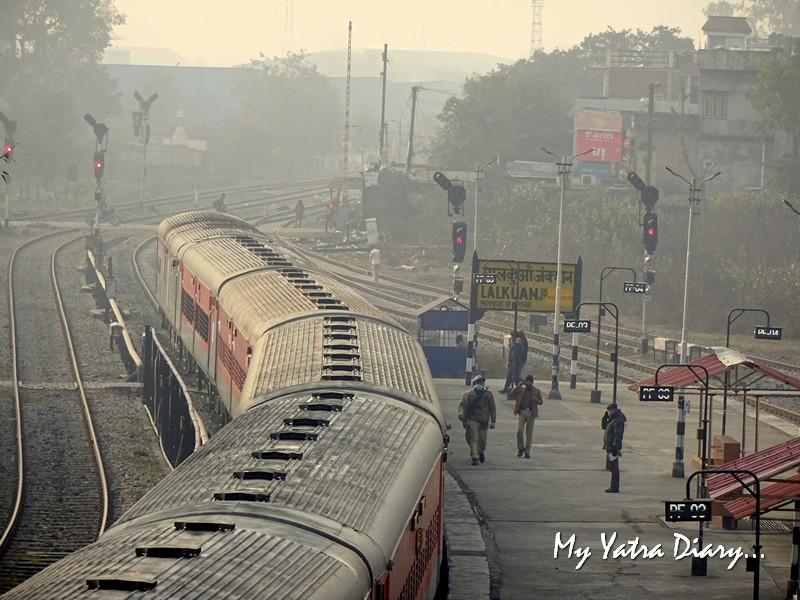 Morning scene at Lal Kuan railway junction, Uttarakhand Indian railways