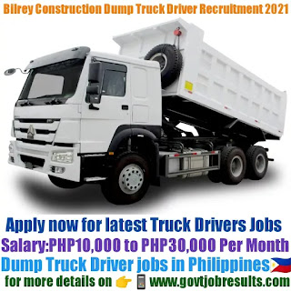 Bilrey Construction Dump Truck Driver Recruitment 2021-22