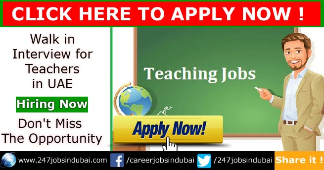 walk in interview for teachers in uae