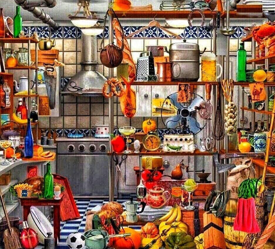 Tebak Gambar: Cari Kunci Hilang di Dapur Berantakan