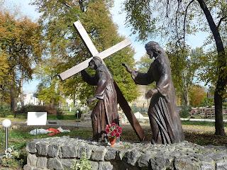 Самбор. Крестная дорога с 14 стациями мук Христа