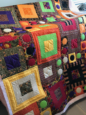 multi colored quilt