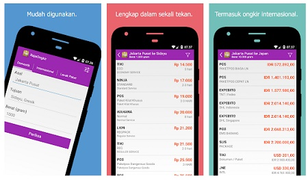 aplikasi android cek ongkir