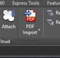 import pdf autocad