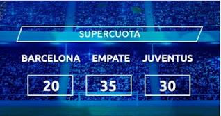 Mondobets SUPERCUOTA Barcelonad vs Juventus 8-12-2020