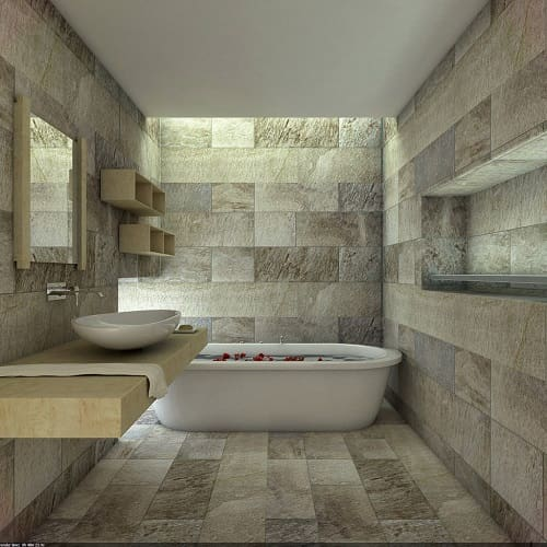 Desain Kamar Mandi Batu Alam Minimalis Ide Kamar Mandi