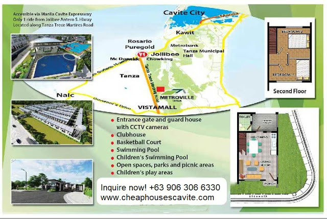 Metroville Townhomes tanza Cavite - Pag-ibig Cheap Houses