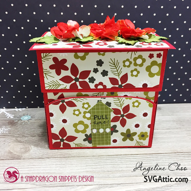 ScrappyScrappy: Ho Ho Holiday Santa Candy with SVG Attic #scrappyscrappy #svgattic #christmas #holiday #candydispenser #simplestories #santa #giftbox