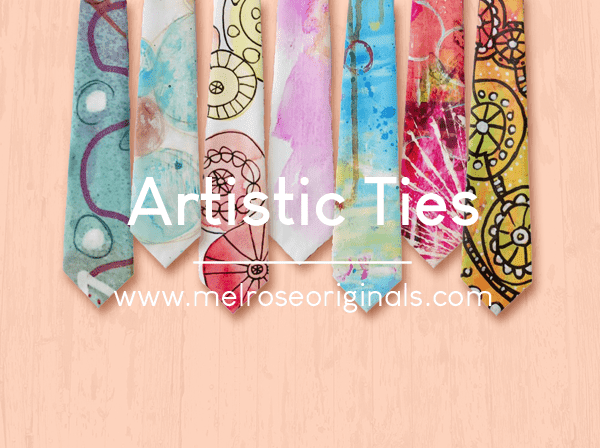 image of ties from cool artistic ties to spice up your wardrobe on Melrose Originals