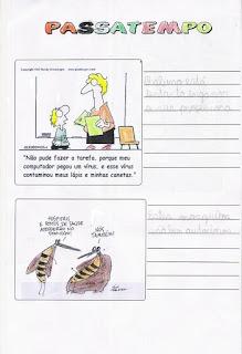 Atividade com jornal sala de aula