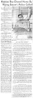 Keenes Boy Chased Home By 'Flying Saucer' – Police Called! - Wayne County Press (Body) 8-5-1963