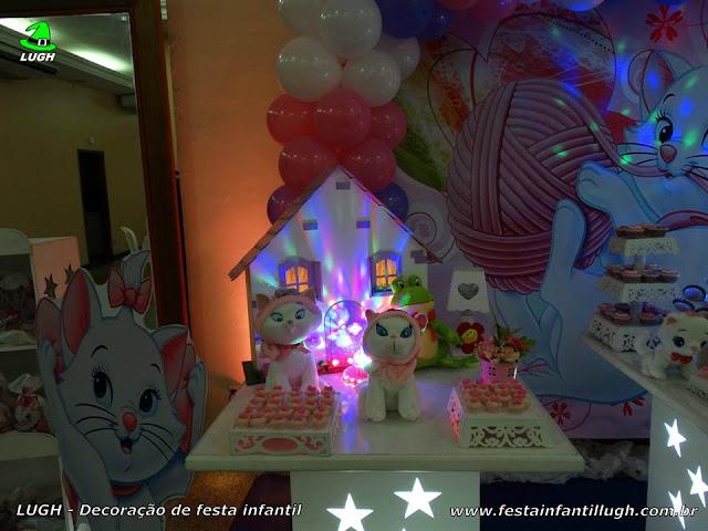 Mesa temática infantil provençal da Gata Marie