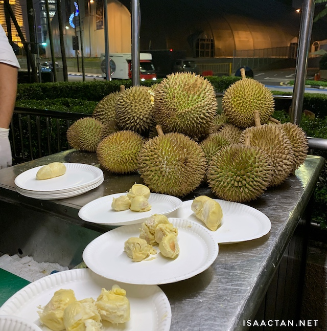 Don't forget the durians!