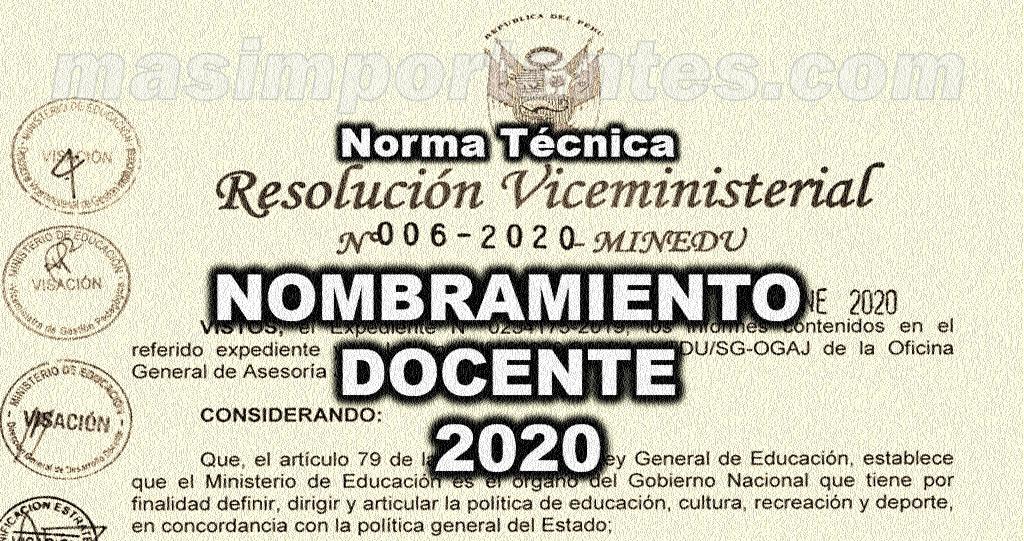Nombramiento docente 2020