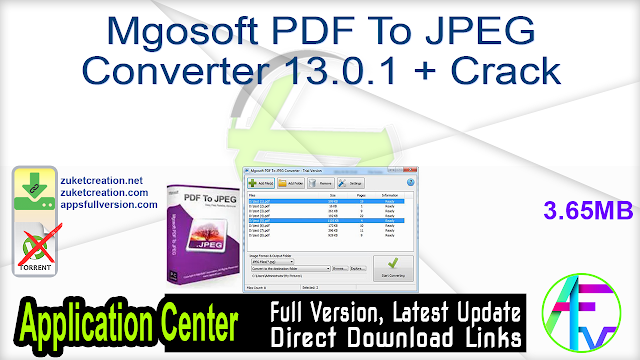 Mgosoft PDF To JPEG Converter 13.0.1 + Crack