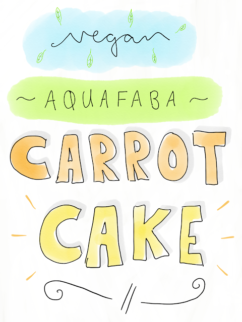 Aquafaba Carrot Cake [Vegan!], www.imogenmolly.co.uk