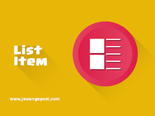Tutorial Dasar Website-List Item