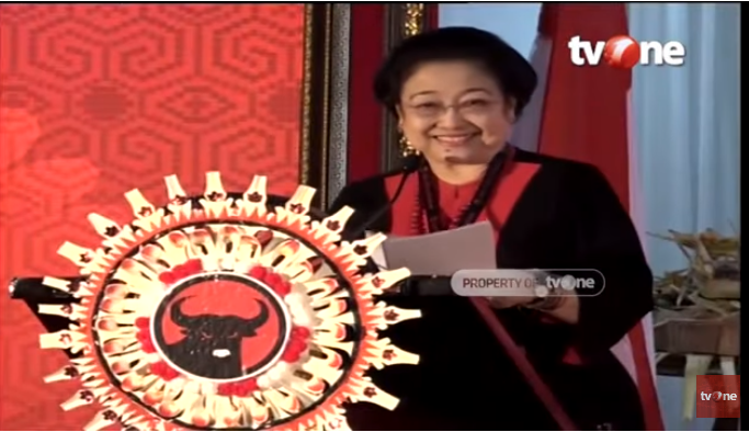 Pidato Megawati di Kongres PDI P