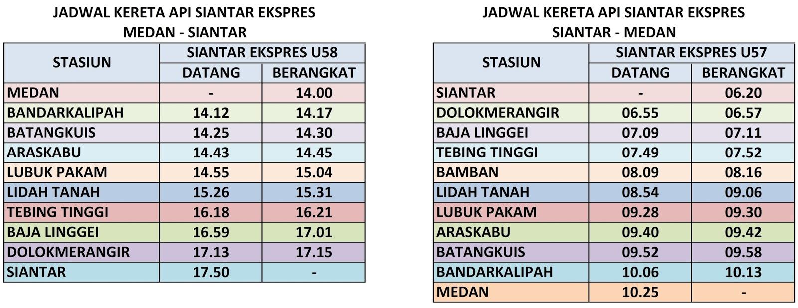 Jadwal Kereta Api Lokal Di Pulau Sumatera