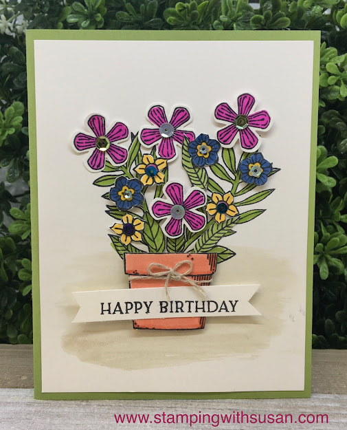Stampin' Up!, Basket of Blooms, www.stampingwithsusan.com, Small Bloom Punch, Blossoms In Bloom, 2020 - 2020 In Colors,