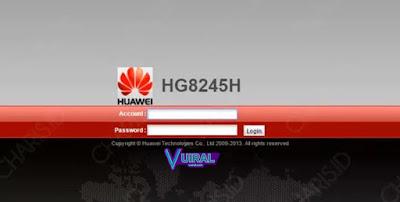 Cara Login Admin Indihome Pada Modem Huawei