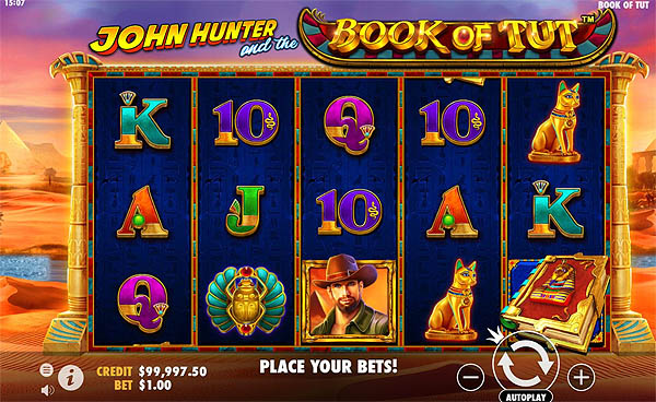 Main Gratis Slot Indonesia - John Hunter and the Book of Tut (Pragmatic Play)