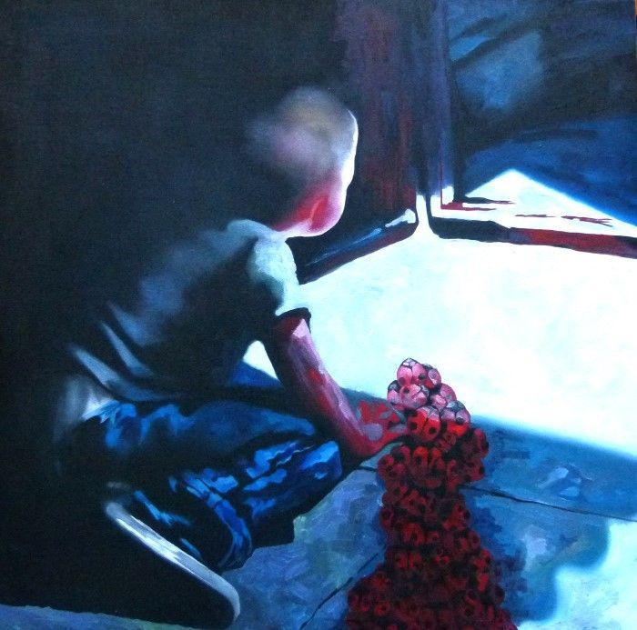 Грузинский художник. Inga Batatunashvili