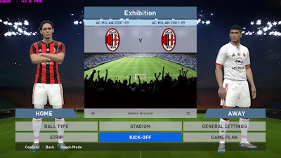 PES 2016 – AC Milan 2001-2009 Ancelotti Era For PTE Patch 4.1 by Fast Eagle