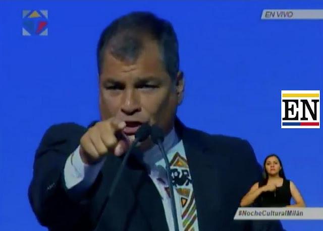 presidente correa insulta migrante ecuatoriana milan