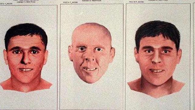 polisi pun kemudian membuat rekonstruksi wajah Rack Man