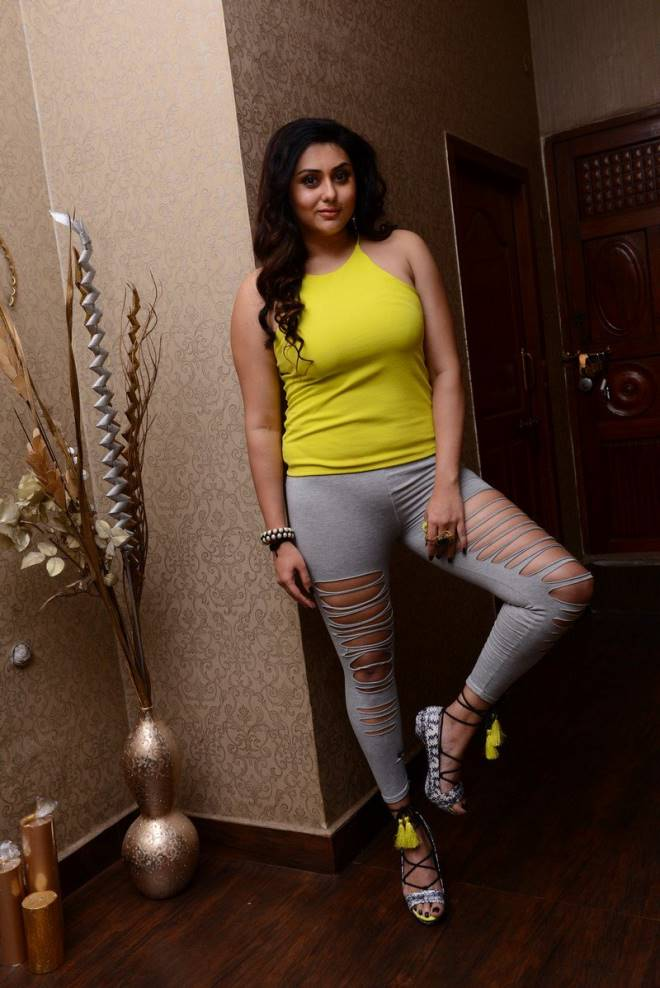 Namitha In Skin Tight Trouser Looking Hot and Sporty
