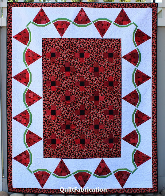 Watermelon Delight quilt by QuiltFabrication