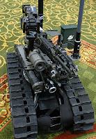 Amerikansk militær robot.Bildelisens: fri bruk