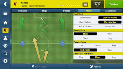 Tampilan Game Football Manager Mobile 2018 Android