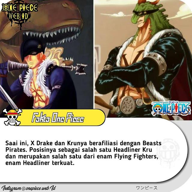 fakta x drake anggota beast pirates