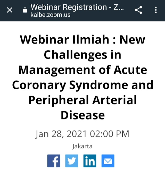 """Webinar Ilmiah:    *""""New Challenges in Management of Acute Coronary Syndrome and Peripheral Arterial Disease""""*"""