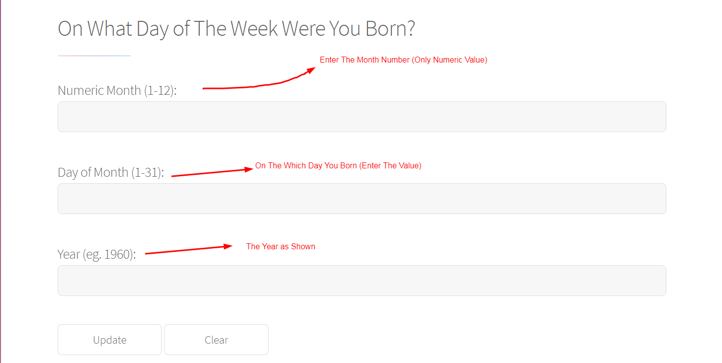 Day of the Week You Born
