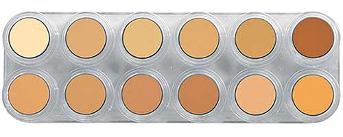 Paleta bases de maquillaje en crema