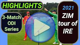 Ireland vs Zimbabwe ODI Series 2021