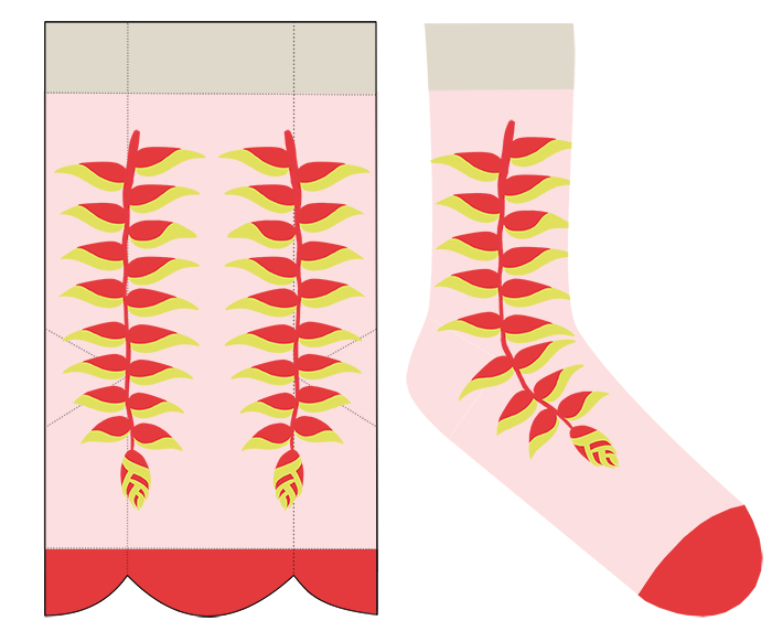 heliconia sock pattern