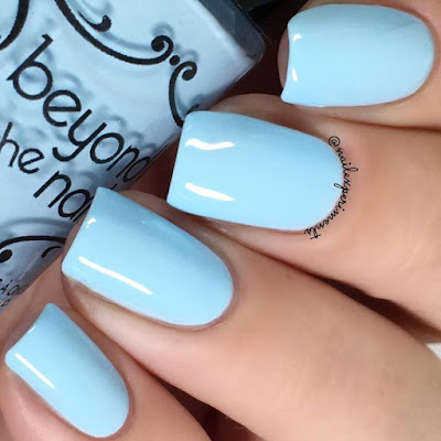 beyond the nail sizzling sky swatch