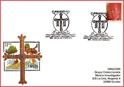 piraguas, tarjeta, matasellos, Sella, descenso, 1999