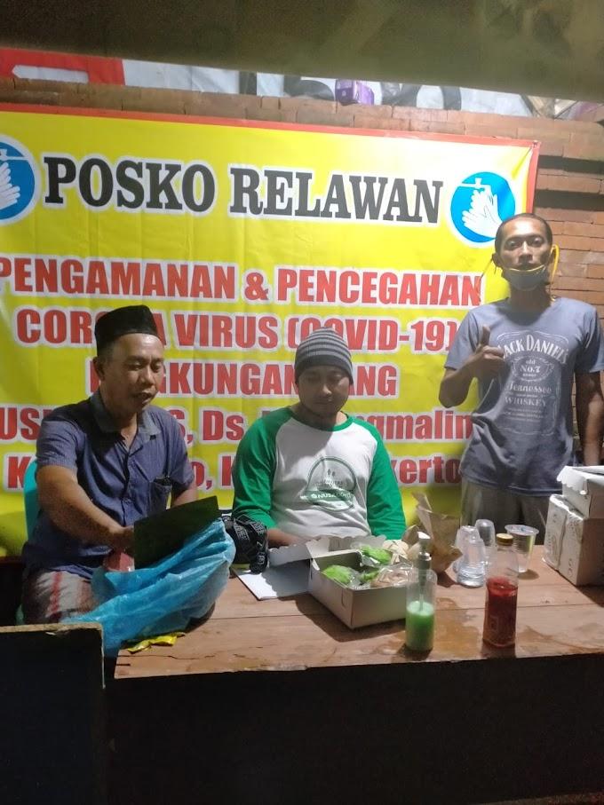 Relawan Warga Desa Kedungmaling Gang Puskesmas Peduli Covid-19