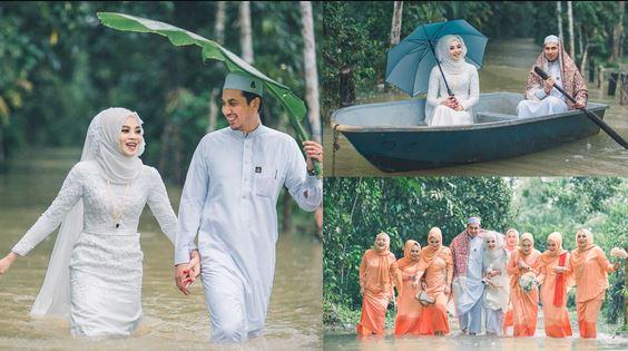 foto pasangan pengantin unik viral