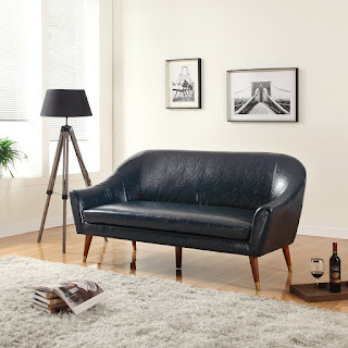 Modern Bonded Leather Living Room Sofa