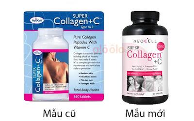 Phân biệt super collagen +C mẫu cũ và mẫu mới