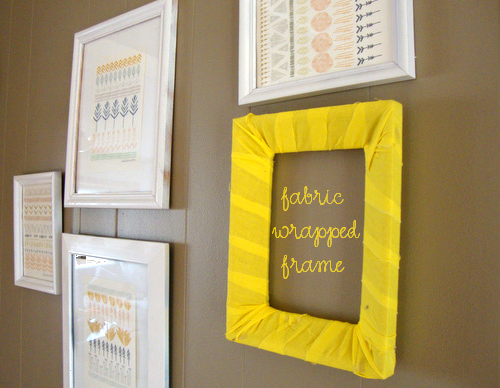 She Makes a Home *: DIY Fabric Wrapped Picture Frame